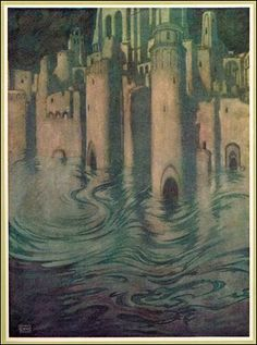 From 'The poetical works of Edgar Allan Poe' illustrated by Edmund Dulac