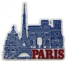 Paris, France - Souvenir Magnet  #(Excerpt)