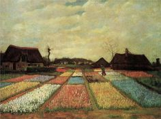 Bulb fields (1883) Vincent van Gogh Typical  old Dutch scenery