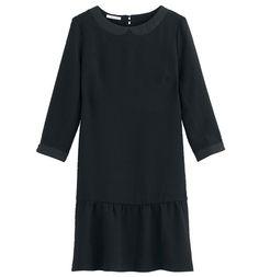 Robe gaufrée Femme noir - Promod