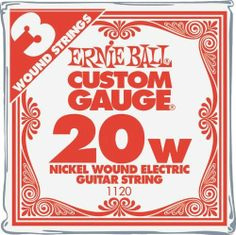 Ernie Ball Nickel Wound Single Guitar Strings 3-Pack .020 3-Pack by Ernie Ball. $2.99. 3 pack of fresh Ernie Ball Nickel Wound electric guitar strings in your favorite size.. Save 43% Off!