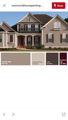 Sherwin williams exterior house color sw 7508 tavern taupe sw 7512 pavillion beige sw 7515 for Sherwin williams homestead brown exterior