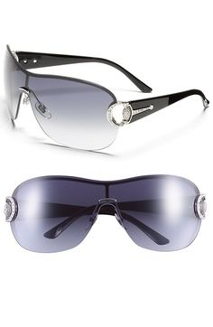 c3631a5b7300 Free shipping and returns on Gucci Crystal Encrusted Shield Sunglasses at  Nordstrom.com. Crystals