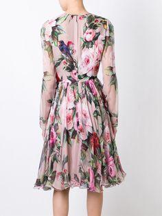 Dolce & Gabbana floral and bird print dress