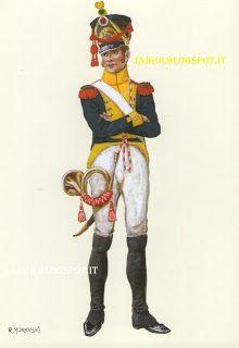 Granducato di Varsavia fanteria 2° Rgt. voltigeurs corno