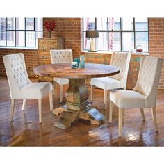 Aubagne 54-inch Reclaimed Teak (Brown) Wood Round Dining Table (54)