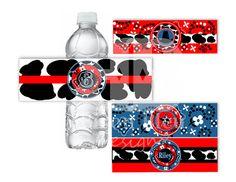 Western Printable Water Bottle Labels by bisonbleu on Etsy, $4.00