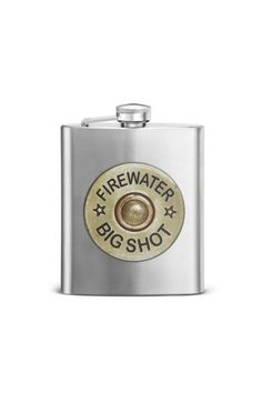 Format: Barware Name: Firewater 12 GA Flask 7.0 oz. Packaging Info: Gift Box with Window Materials: stainless steel    Measurements: 3.75W x 5H   12 Gauge Flask by Walker's. Home & Gifts - Home Decor - Decorative Objects Alabama