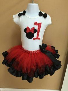 Red Minnie Mouse set/ Minnie Mouse tutu por Divastutusboutique