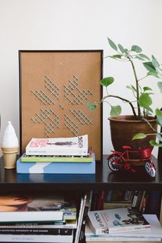 Make your own DIY faux cross stitch wall art