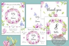 'Magic of Magnolia' Wedding Pack By Irina Diasli
