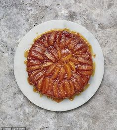The classic 'upside down' French tart, usually served warm as a pudding.