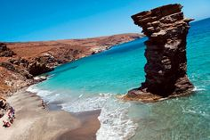 """One of the beaches of Andros, an island in Greece. The name of this beach is """"the old woman 's jump"""". Andros Greece, Greece Islands, Exotic Places, Heaven On Earth, Archipelago, Cool Photos, Amazing Photos, Travel Destinations, Vacation"""