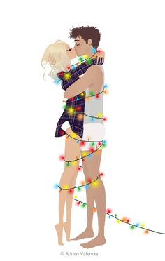 This reminds me or Ruben and I. We celebrate holidays alone in our underwear, staying comfy and close:)