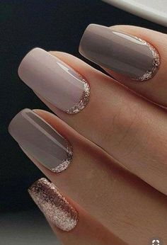 50 beautiful nail art designs that make you shine .- 50 beautiful nail art designs that make you shine - Natural Nail Designs, Gold Nail Designs, Elegant Nail Designs, Elegant Nails, Nails Design, Cute Summer Nail Designs, Cute Summer Nails, Nail Summer, Winter Nails