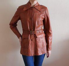 Orange Vintage Leather Bomber Jacket | Black Friday Sale | Pinterest