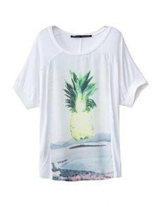 3D Print I Love Pineapple Womens Long Sleeve Shirt Athletic Baseball Shirt