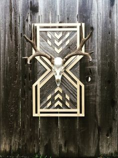Reclaimed Wood Wall Art by HuntWorksandCo on Etsy Reclaimed Wood Wall Art, Wooden Wall Art, Wall Wood, Woodworking Projects Diy, Wood Projects, Wood Mosaic, Pallet Art, Barn Quilts, Wall Patterns