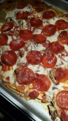 Doughless Pizza (low carb) - Allthecooks.com
