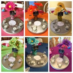 4d375d80923 All 6 centerpieces for Mariah Carey themed bridal shower  DIY  MariahCarey   butterflies