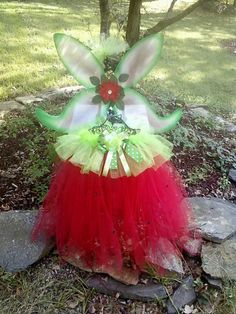 Strawberry Fairy Tutut Halter Dress by earlesgirl5 on Etsy, $40.00