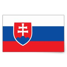 Shop Slovakia Flag Stickers* Rectangular Sticker created by Azorean. Slovakia Flag, Flag Of Europe, Political Events, Bratislava, National Flag, Flags, Custom Stickers, Activities For Kids, Personalized Stickers