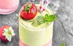 Avocado Strawberry Layered Smoothie https://www.prevention.com/food/avocado-smoothie-recipes/slide/4
