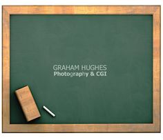 Green school chalk board with wooden frame. Green School, Chalk Board, Cgi, Wooden Frames, Boards, Studio, Projects, Photography, Fotografie