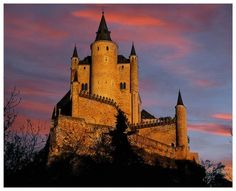 Segovia Castle, located in an ancient town of Segovia in central Spain, started off as an Arab fort in the 12th century. X