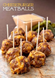 All the flavors of a delicious cheeseburger in a bite-sized meatball!