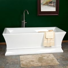 Riveria Freestanding Acrylic Tub. I would never leave this.