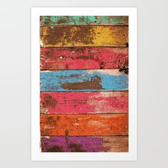 Vintage, wood, multicolor, old...