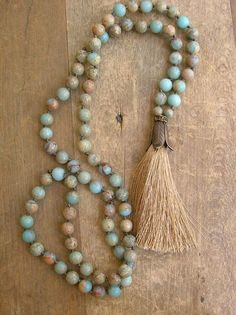 Beaded tassel necklace boho jewelry Journey long by 3DivasStudio