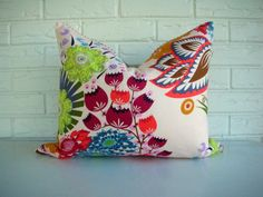 Decorative Throw Pillow Lumbar  Colorful by habitationBoheme, $45.00