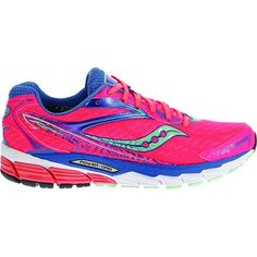 Women's Saucony Ride 8 Running Shoes - Coral/Blue/Sea - Outside