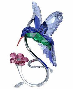 Swarovski Collectible Figurine, Crystal Paradise Hummingbird