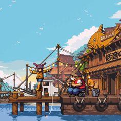 Post with 2267 views. The amazing pixel art of junkboy Game Design, League Of Legends, Pixel Life, Pixel Art Background, Cool Pixel Art, Pixel Characters, 8 Bit Art, Pixel Art Games, Pokemon