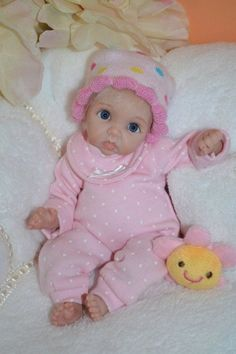 Original Art OOAK Polymer Clay baby doll girl 8 Victoria by Yulia Shaver Polymer Clay Miniatures, Polymer Clay Art, Silicone Baby Dolls, Clay Baby, Tiny Dolls, Frugal, Art Dolls, Minis, Original Art