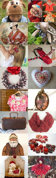 A Bit of Brown and Red by Marcia on Etsy--Pinned with TreasuryPin.com