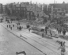 Mathenesserweg ten tijden van de vergeten bombardement 1943