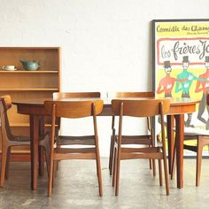 Brazilian rosewood dining table and Findahl Møbelfabriik dining chairs…