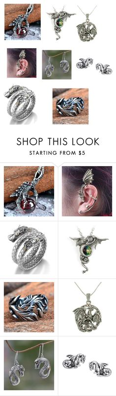 """Dragon"" by cat-archer ❤ liked on Polyvore featuring Trend Cool, John Hardy, Carolina Glamour Collection and NOVICA"