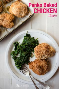 Panko Baked Chicken Thighs