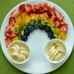 Rainbow Fruit Platter. Image from Super Healthy Kids by ora