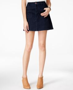 Maison Jules A-Line Denim Mini Skirt, Only at Macy's