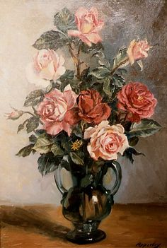 George Owen Wynne Apperley - Roses Alien Drawings, Art Drawings, Shabby Flowers, Vintage Flowers, Art Floral, Tumblr Art, Painting Still Life, Environment Concept Art, Vintage Artwork