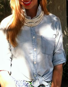 Pink Champagne: Chambray & Leopard #fashionblogger #lillypulitzer #jcrew #chanel #louisvuitton