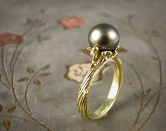 Sea Tendril Tahitian Pearl Ring Mounting