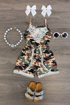 Camo Lace Romper - Sparkle In Pink Baby Girl Camo, Camo Baby Stuff, Baby Boys, Carters Baby, Baby Girl Fashion, Toddler Fashion, Kids Fashion, Womens Fashion, Kids Outfits