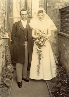Backyard wedding  Bride, vintage wedding gown, dress